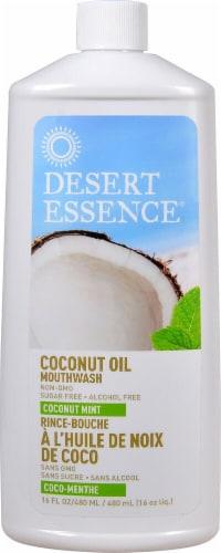 Desert Essence  Coconut Oil Mouthwash   Coconut Mint Perspective: front