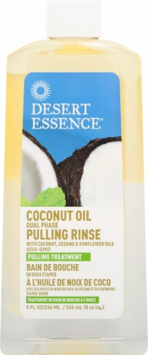 Desert Essence Coconut Oil Pulling Rinse Perspective: front