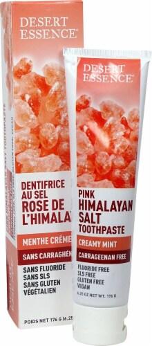Desert Essence Creamy Mint Flavor Pink Himalayan Salt Toothpaste Perspective: front