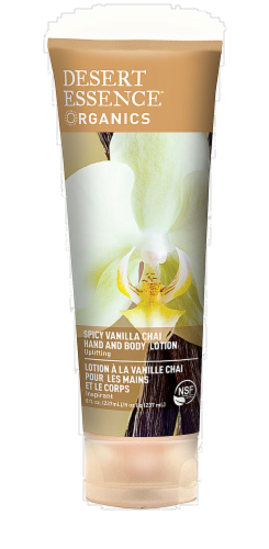 Desert Essence Spicy Vanilla Chai Hand and Body Lotion Perspective: front