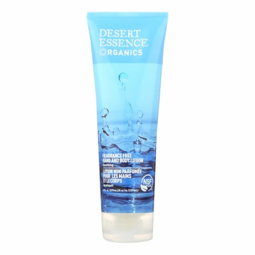 Desert Essence Unscented Hand And Body Lotion Perspective: front