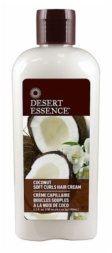 Desert Essence Coconut Soft Curls Hair Cream Perspective: front