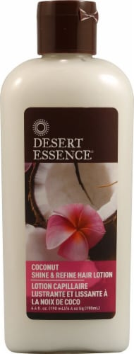 Desert Essence  Shine and Refine Hair Lotion Coconut Perspective: front