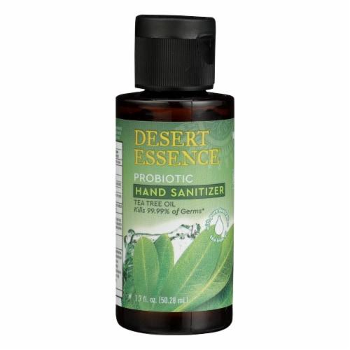 Desert Essence Tea Tree Oil Probiotic Hand Sanitizer Perspective: front