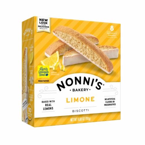 Nonni's Limone Biscotti 8 Count Perspective: front