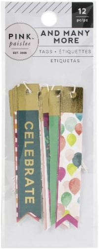 And Many More Skinny Tags 12/Pkg-Cardstock W/Champagne Foil Accents Perspective: front