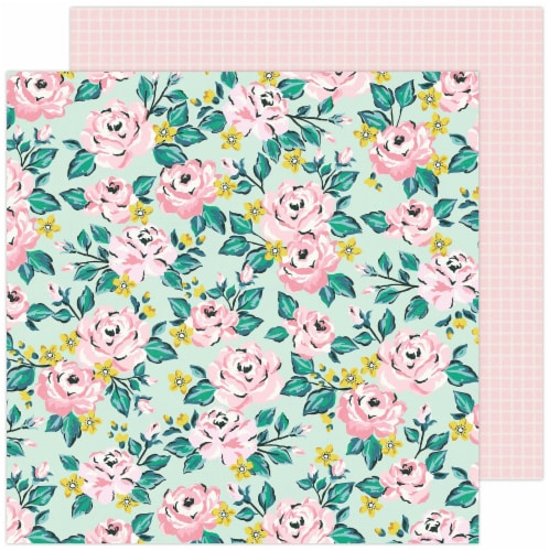 """Maggie Holmes Garden Party Double-Sided Cardstock 12""""X12""""-Blooming Perspective: front"""