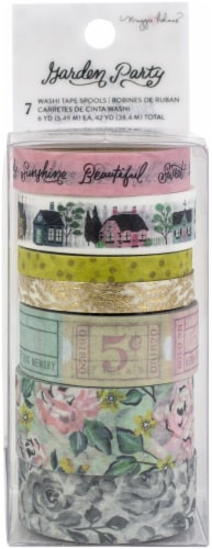Maggie Holmes Garden Party Washi Tape 7/Pkg-W/Gold Foil Accents Perspective: front