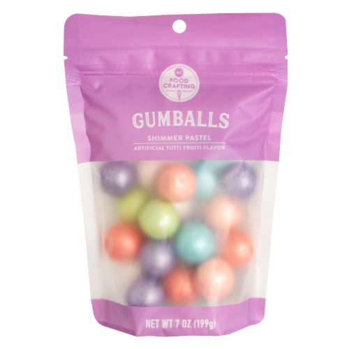 AC Food Crafting Shimmer Pastel Tutti Fruiti Flavor Gumballs Perspective: front