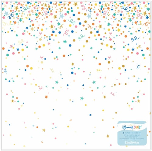 """Obed Marshall Buenos Dias Specialty Paper 12""""X12""""-Acetate W/Gold Foil Accents Perspective: front"""