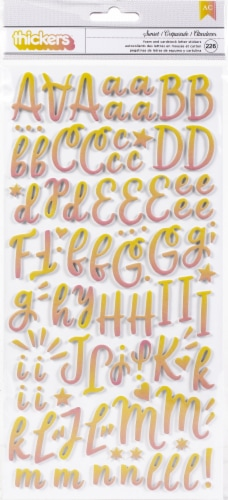Obed Marshall Buenos Dias Thickers Stickers 226/Pkg-Alpha Perspective: front