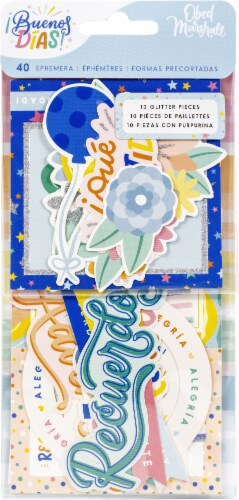 Obed Marshall Buenos Dias Ephemera Cardstock Die-Cuts-Icon & Title Perspective: front