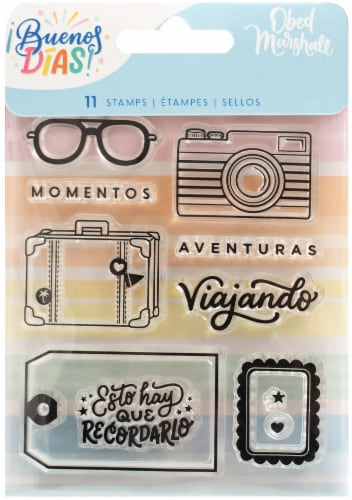 Obed Marshall Buenos Dias Acrylic Stamps 11/Pkg- Perspective: front
