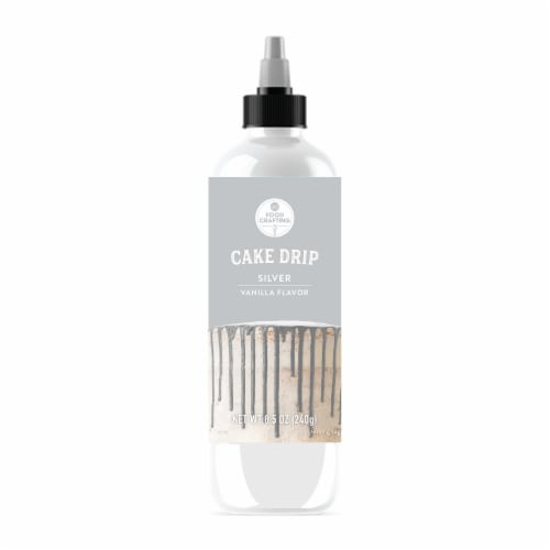 AC Food Crafting Silver Vanilla Flavor Cake Drip Perspective: front