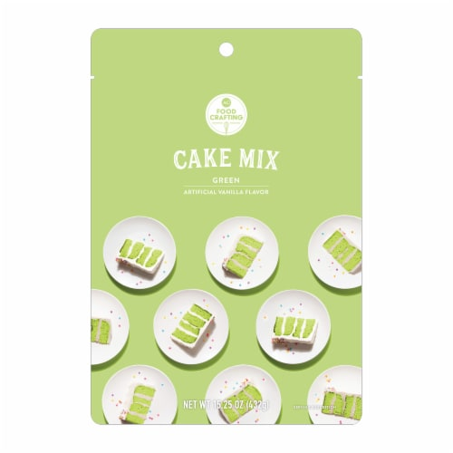 AC Food Crafting Vanilla Flavor Green Cake Mix Perspective: front