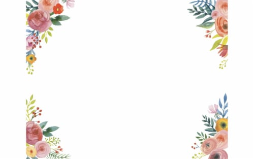 AMC Poster Shop Poster Board 22x28 Floral Corners Perspective: front