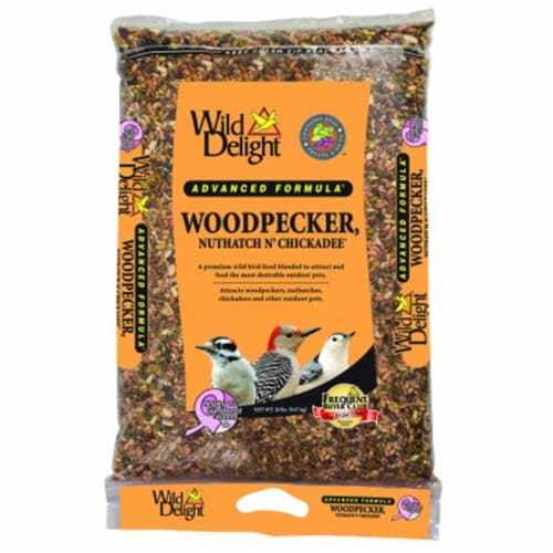 Wild Delight Woodpecker, Nuthatch N' Chickadee Bird Seed w/ Real Fruit and Nuts Perspective: front