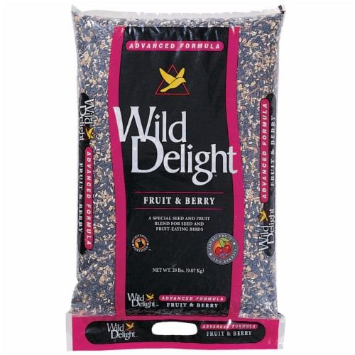 Wild Delight Fruit N Berry Assorted Species Wild Bird Food Sunflower Seeds 20 lb. Perspective: front