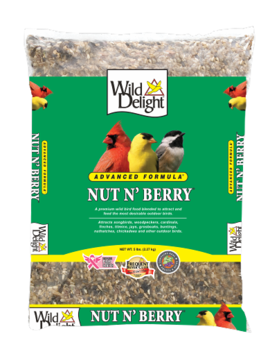 Wild Delight® Nut N' Berry Bird Seed Perspective: front