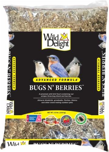 Wild Delight Bugs N' Berries Premium Wild Bird Feed - Black/Brown Perspective: front