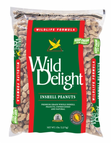 Wild Delight Assorted Species Wild Bird Food Peanuts 5 lb. - Case Of: 1; Perspective: front