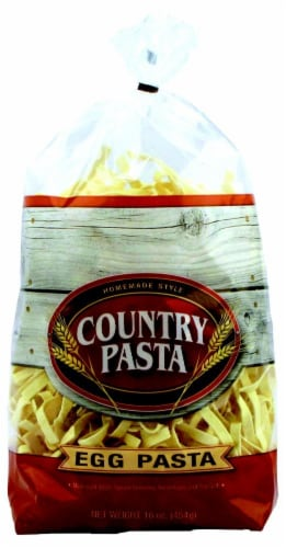 Country Pasta Egg Noodles Perspective: front