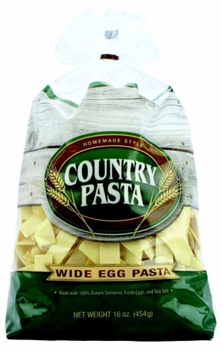 Country Pasta Wide Egg Noodles Perspective: front