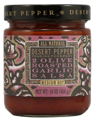 Desert Pepper Two Olive Roasted Garlic Salsa Perspective: front