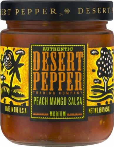 Desert Pepper Trading Peach Mango Medium Salsa Perspective: front