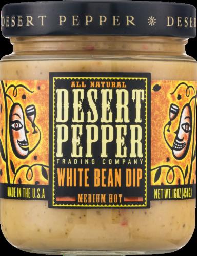 Desert Pepper Medium Hot  White Bean Dip Perspective: front