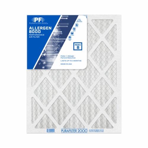 PuraFilter 2000 Pollen & Allergen Performance Air Filter - White Perspective: front