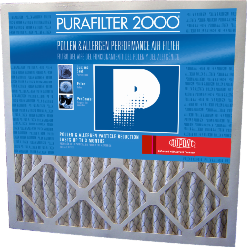 PuraFilter 2000® Pollen and Allergen Performance Air Filter Perspective: front