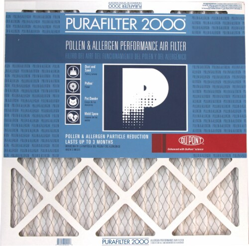 PuraFilter 2000 Air Filter - White Perspective: front