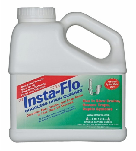 Insta-Flo Crystals Drain Cleaner 6 lb. - Case Of: 4; Perspective: front