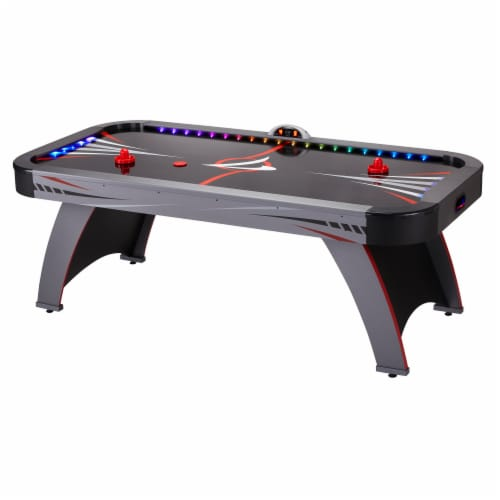 Fat Cat Volt LED Illuminated Air-Powered Hockey Table Perspective: front