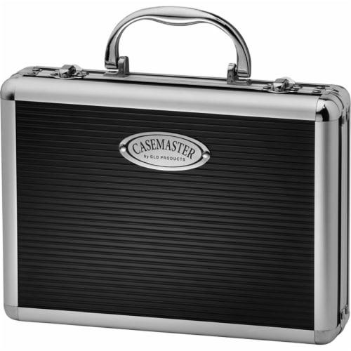 Casemaster Legion Extra Large Aluminum Ultra Premium 9 Dart Storage Case, Black Perspective: front