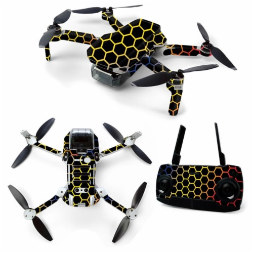 MightySkins DJMAVMIN-Primary Honeycomb Skin for DJI Mavic Mini Portable Drone Quadcopter - Pr Perspective: front