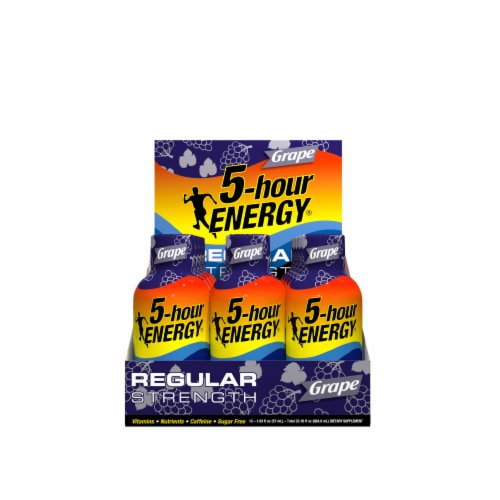 5-Hour Energy Grape Energy Drink Supplement Perspective: front