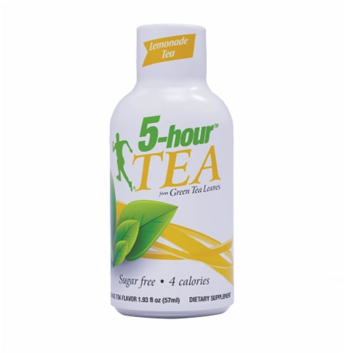 5-Hour Tea Lemonade Green Tea Energy Drink Supplement Perspective: front