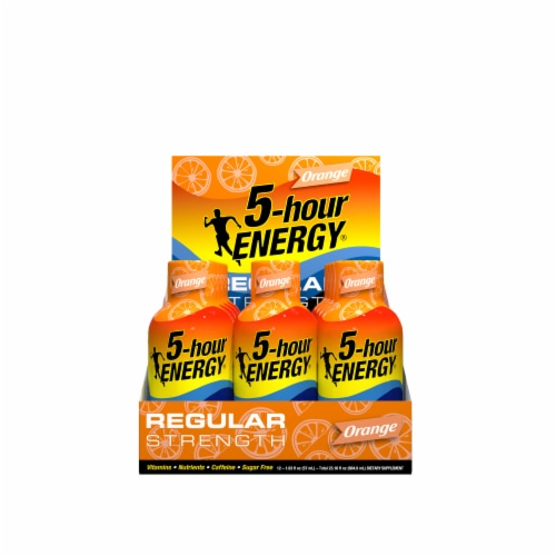 5-Hour Energy Orange Energy Shots Perspective: front