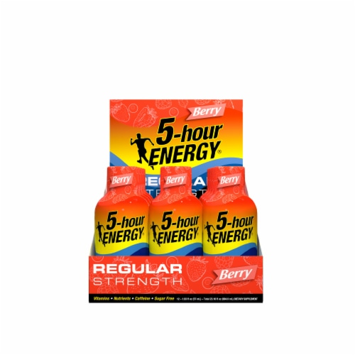 5-Hour Energy Berry Energy Drink Supplement Perspective: front
