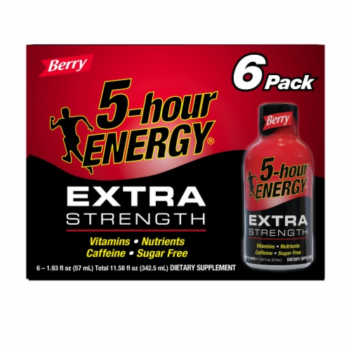 5-Hour Energy Extra Strength Berry Energy Shot Perspective: front