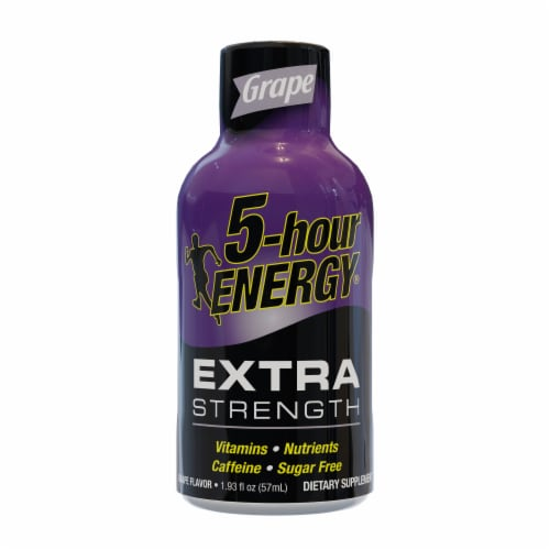 5-Hour Energy Grape Extra Strength Shot Perspective: front