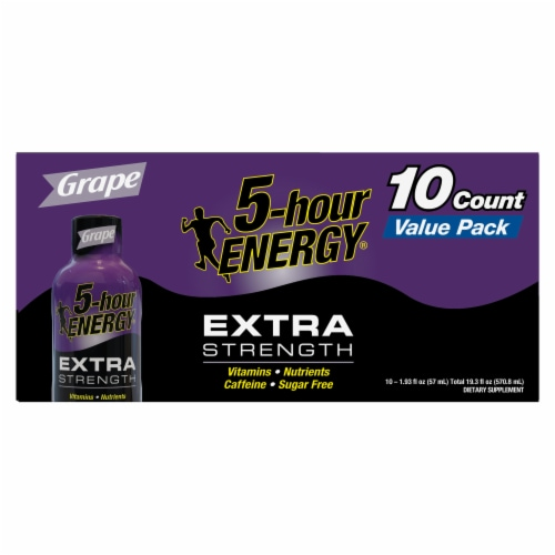 5-Hour Energy Extra Strength Grape Energy Shots Perspective: front