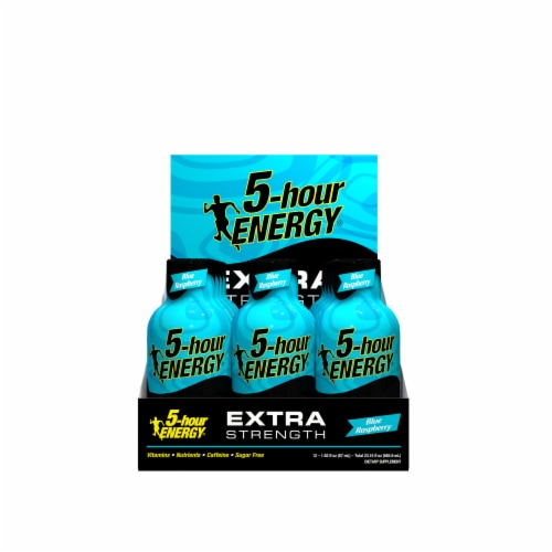 5-Hour Energy Extra Strength Blue Raspberry Supplements Perspective: front