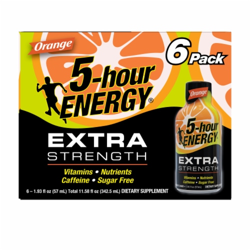 5-Hour Extra Strength Orange Energy Drink Perspective: front