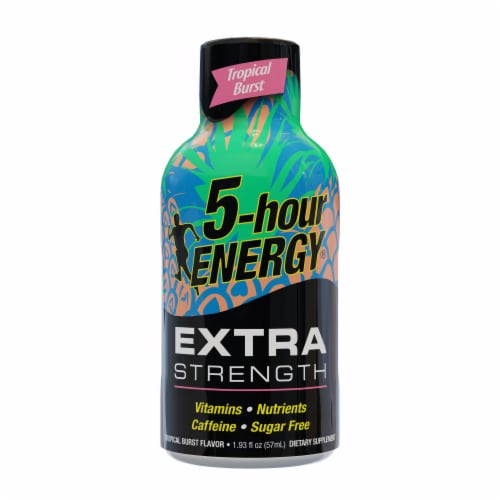 5-Hour Energy Extra Strength Tropical Burst Energy Shot Perspective: front