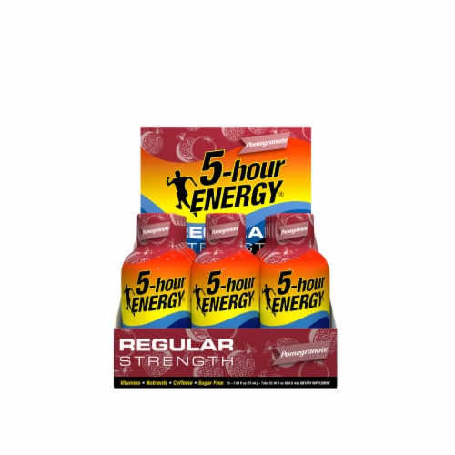 5-Hour Energy Pomegranate Energy Drink Perspective: front