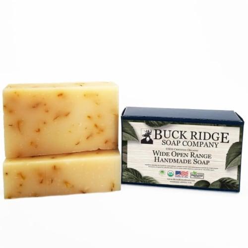 Buck Ridge Soap BS-PS-WOR-06 USDA Certified Organic Wide Open Range Mens Handmade Soap Perspective: front