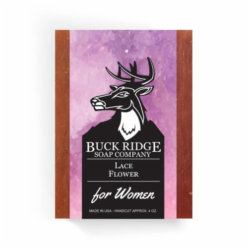 Buck Ridge Soap laceflower Lace Flower Handmade Soap Perspective: front